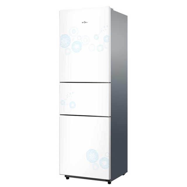 Midea/美的冰箱 206升三门三温 静音省电 BCD-206TM(E)悦动白