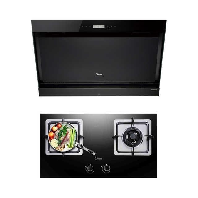 【蒸汽洗】烟灶套装 黑晶面板高颜值 DJ570R+Q360B