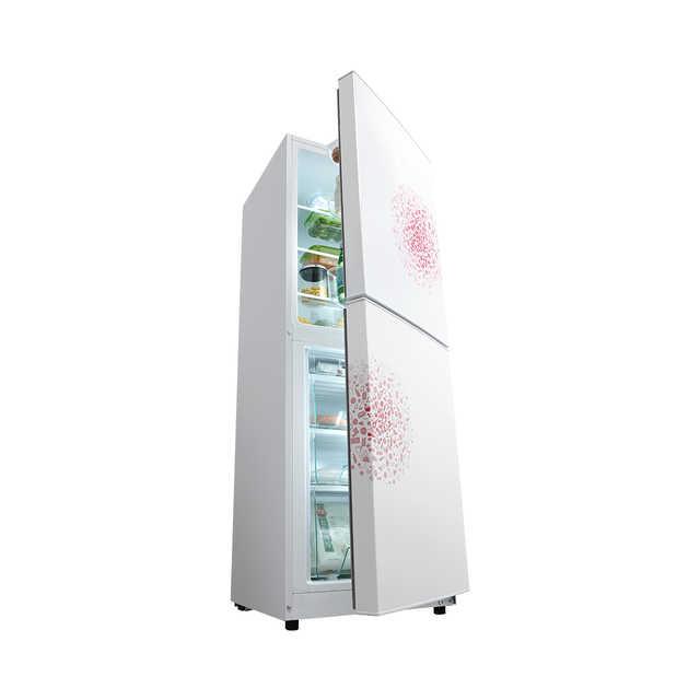 Midea/美的冰箱169升 36分贝 时尚妙趣面板 低温补偿 BCD-169CM(E)