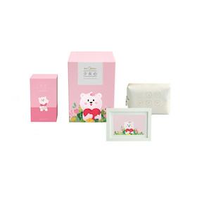 美的会员形象周边   【少女心】生活美学四件套礼盒  双层收纳盒、化妆包、红豆包、明信片
